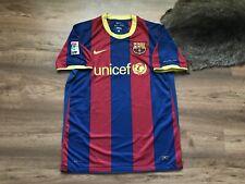 BARCELONA SPAIN 2010/2011 HOME FOOTBALL SHIRT JERSEY SOCCER CAMISETA NIKE SIZE L