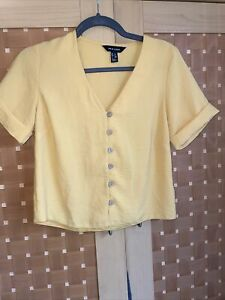 Mustard Yellow Button Down New Look Top