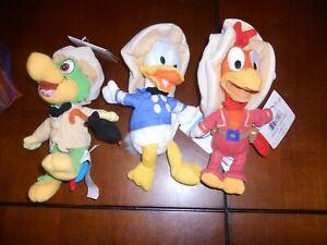 Disney Store Plush Bean Bag 3 Three Caballeros w/tags