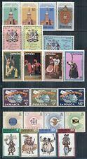 JAMAICA 327-490d SG328-502 MH 1971-80 11 sets, 1 single, 2MS Cat$19