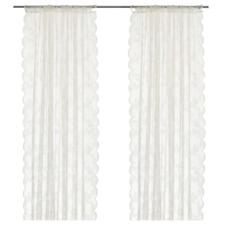 New* ALVINE SPETS Net curtains,1 pair,off-white,145x250 cm 201.120.11 Brand IKEA