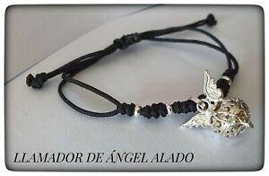 LLAMADOR DE ANGEL ALADO PLATA AMULETO PROTECCION Silver Sterling CALLER ANGEL