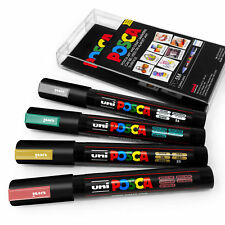 Université POSCA PC-5M ART PEINTURE stylos - Automne métal Jeu de 4 plastique