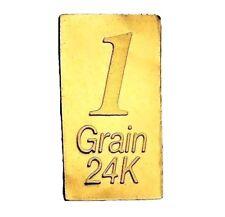 1/15 Gram .9999 Fine 24k Gold Bullion Bar - In Assay Card