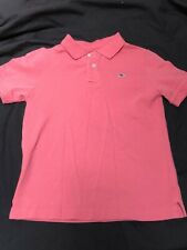 VINEYARD VINES Short Sleeved all Cotton Polo in Dark Coral Boys sz S (8-10) EUC