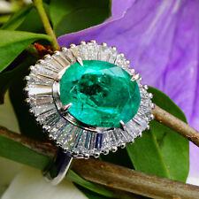 Smaragd Diamant Ring FEIN KOLUMBIEN 3,16 ct/0,83 ct W/VS 900er Platin SW8345.-EU
