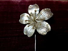 Vintage La Noblesse Italian 925 Silver Flower Stick Pin Tie Lapel Pin