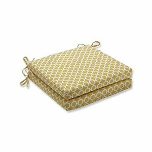 """Pillow Perfect Outdoor/Indoor Hockley Banana Square Corner Seat Cushions 20"""" ..."""