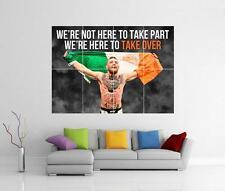 Conor McGregor cita bandera irlandesa el notorio cartel de impresión fotográfica de pared gigante de UFC