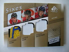 08-09 SP GAME USED AUTHENTIC FABRICS SIXES,TOEWS,KANE, BACKSTROM,MUELLER,GAGNER,