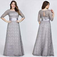 US Ever-Pretty Plus Size Lace Long Evening Ball Gown Mother Of Bride Party Dress