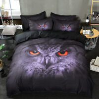 Wongs Bedding Owl Duvet Cover Set King Queen Size Bedding Set Pillow Cases US