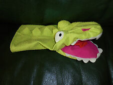 Doudou Ikéa Marionnette Crocodile Vert Bouche Rose Etat Neuf