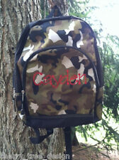 Cayden Camo Pre - Personalized Monogrammed Back Pack Book Bag