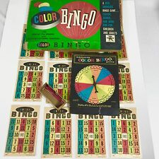 Vintage Aged Bingo Card Game 16 Cards Unique Color Bingo educards 1952 MCM