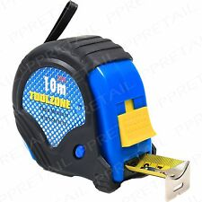 Large 10M Tape Measure RUBBER COATED Heavy Duty Measuring Tool Metric/Imperial