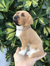 REALISTIC Miniature Puppy Dog Furry Animal * Gift Idea * Doll Prop or Gift Idea