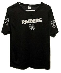 Oakland Raiders NFL Black Mesh Lightweight Printed Franklin Jersey Youth Large