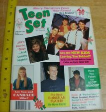 New Kids on the Block Neil Patrick Harris ChristianSlater 1991 Teen Set magazine