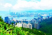 """Hong Kong Skyline Art Print 13"""" x 19"""""""