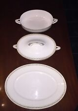 Rare Rosenthal Donatello Continental R33 Green Laurels 4 Piece Dinnerware Set!!