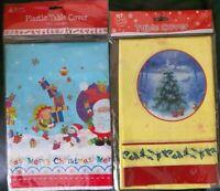 Christmas Table Cover Rectangle Festive Cloth Wipe Clean Xmas Decor 180x120cm