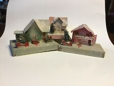 Putz Christmas House, Christmas Village, Cardboard House Vintage Made in Usa