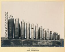 Projectiles SCHNEIDER Moyens et Petits Calibres - Obus Catalogues c. 1920
