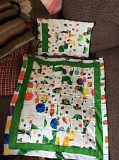 Handmade Small Pram Quilt And Pillow Sham Made In Hungry Caterpillar Fabric