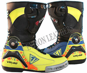 VR Motorcycle Motorbike Leather Boots EV Design Waterproof