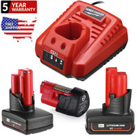 For Milwaukee M12 12V XC 9.0 Extended Capacity Battery 48-11-2460 / Fast Charger
