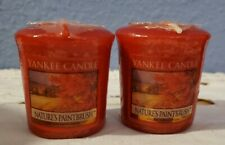 2 YANKEE CANDLE SET VOTIVES~~ NATURE'S PAINTBRUSH ~ BRAND NEW  HARD TO FIND