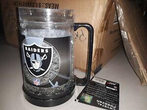 OAKLAND RAIDERS 16oz Crystal Freezer Mug, rare design,NFL shelf71