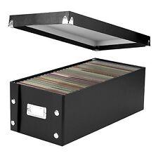 Snap-N-Store DVD Storage Box Case Black Disc Holder Album Organizer Media Rack