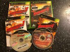 2 x ORIGINAL XBOX GAMES BURNOUT 3 TAKEDOWN & BURNOUT REVENGE BOTH COMPLETE PAL