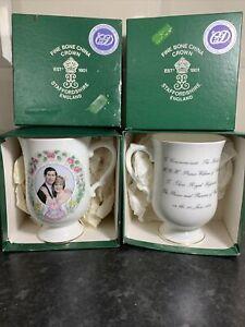 2 X Crown Staffordshire Birth Prince William 1982 Prince Charles Princess Diana
