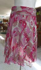 BCBGMAXAZRIA Dusty Pink Silk Flair  Skirt  SZ 4