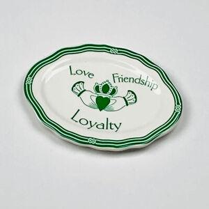 St. Patrick's Day Irish Claddagh Ceramic Word Plate ~ Love Friendship Loyalty