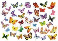 Mixed Edible Butterfly Cake or Cupcake Toppers Decorations Wafer Rice Paper
