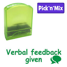 Verbal feedback given - Green Self-inking Value Teacher Stamp