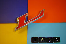 FORD GRANADA,CAPRI,CORTINA,L RED & SILVER ALUMINIUM PINNED LETTER BADGE EMBLEM.