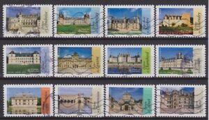 France 2015 : les 12 timbres du Carnet - Architecture Renaissance - oblitérés