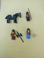 LOT DE 4  CHEVALIERS LEGO