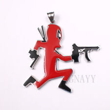 NEW Juggalo Deadpool Charm stainless steel link chain 30inch