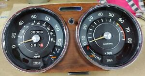 SEAT 124 - FIAT 124 DASHBOARD DASHBOARD MILES SPEEDOMEER CLUSTER