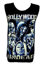 HOLLYWOOD UNDEAD Skull Mask Rock Band Music Black Cotton Tank Top T-Shirt Size M