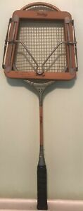 Vintage Grays of Cambridge Wooden Badminton Racket