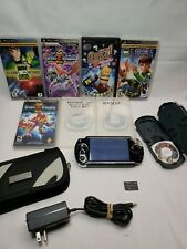 Sony PlayStation PSP 1001 Black  Console w/ 7 Games & 1 Movie & Accessories.