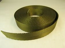 1 inch 25 feet Military Green Nylon 2 panel webbing strapping Made in USA