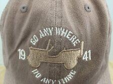 1941 Go Anywhere Do Anything JeepLogo Baseball Style Hat Cap Adjustable OSFA VGC
